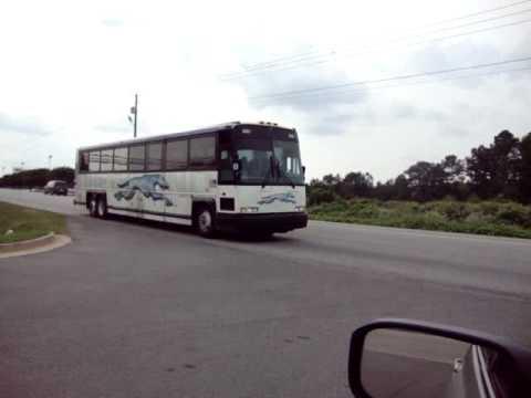 Greyhound Bus leaving Opelika, Alabama heading down Hwy. 280/431. 5/14/2010.