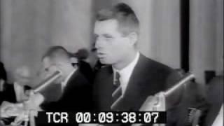 Cosa Nostra Mafia Hearings RFK and Joseph Valachi Newsreel www.PublicDomainFootage.com