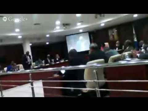 LIVE VIDEO PARLIAMENT AIRPORT, REGINA LABEGA, MINISTER TED RICHARDSON
