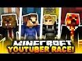 Minecraft 1v1v1v1 YOUTUBER PARKOUR RACE! | (RACE TO THE TOP!)