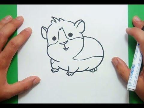 Como Dibujar Un Hamster Paso A Paso 2 How To Draw A Hamster 2