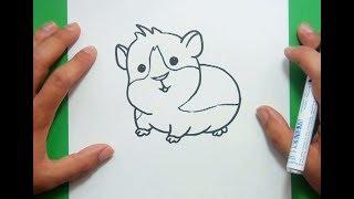 Como dibujar un hamster paso a paso 2 | How to draw a hamster 2
