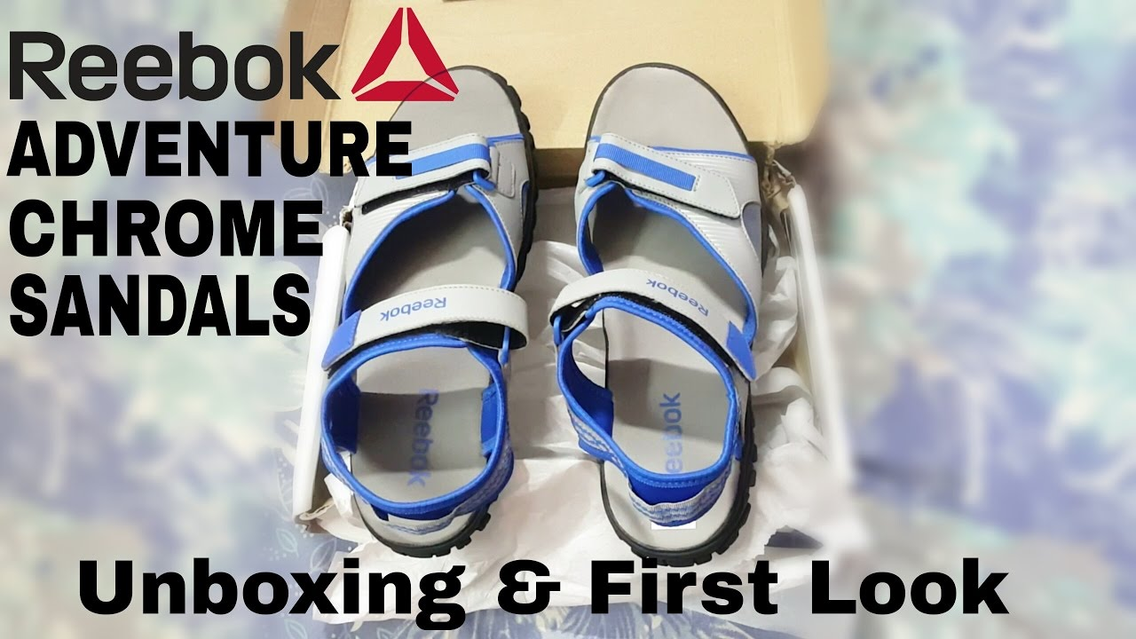 e2394d8b7c26 Reebok Men s Adventure Chrome Lp Mesh Sandals Unboxing and First look