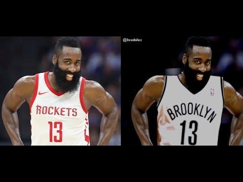 James Harden Brooklyn Nets NBA Jersey Swap on Paint.net