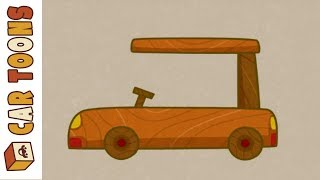 Car Toons: Cars for Kids at the Parking Lot.