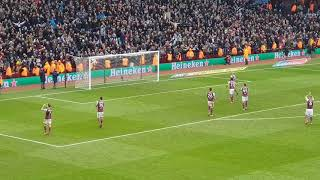 Aston Villa vs Birmingham City 11.02.18 Terry respecting holte end and don't look back in anger