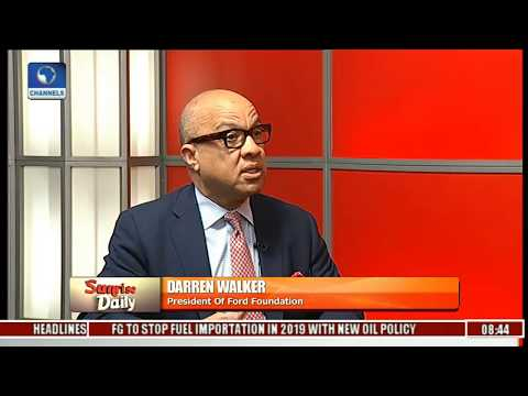 Ford Foundation CEO; Darren Walker Says Bullish About Nigeria,Insists Problems Are Solvable Pt 2