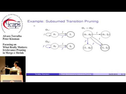 """ICAPS 2015: """"Focusing on What Really Matters: Irrelevance Pruning in Merge & Shrink"""""""