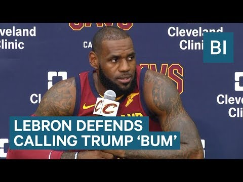 Watch LeBron James defend calling Trump a bum on Twitter