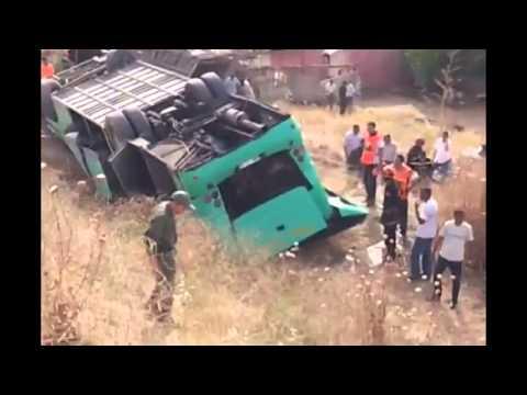 مكناس حادثة انقلاب حافلة بقنطرة ويسلان  accident de bus meknes wislan grave