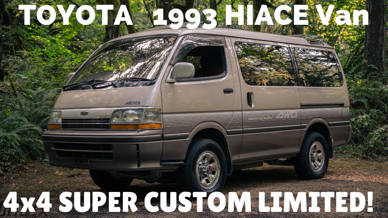1993 Toyota Hiace Van Super Custom Limited 4x4  Diesel, with every option -  by OttoEx