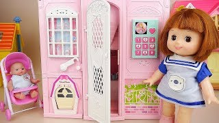 Baby doll and two story house toy baby Doli play