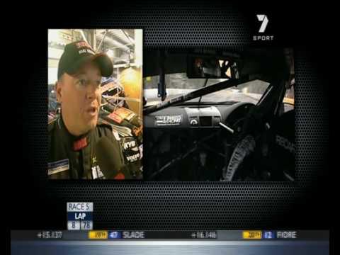 V8 Supercars : Jason Bargwanna Crashes Into Will Davison (Race 1 - Adelaide 2010)