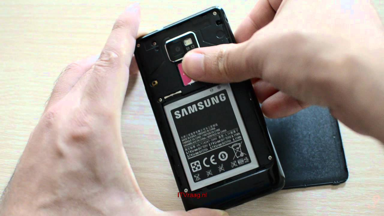 Velsete Samsung Galaxy S2 - How to remove backside/battery/SIM/SD - YouTube OD-75