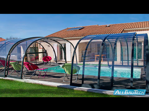 Dallas und Dallas Clear Pool-Überdachung Zadaszenia basenowe, swimming pool enclosures