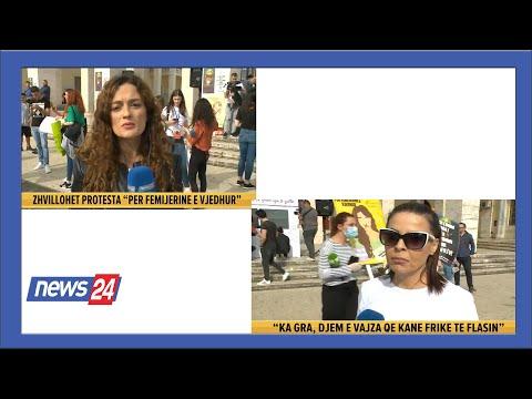 """""""Për Fëmijërinë e Vjedhur"""" zhvillohet protesta marshim në Tiranë @News24 Albania"""