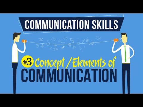 Concept / Elements Of Communication - Introduction To Communication Skills - Communication Skills
