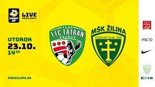 Záznam: 1.FC Tatran Prešov - MŠK Žilina 1:2 (1:1) thumbnail
