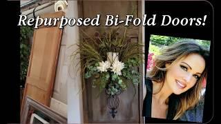 Repurposed Bi-fold Doors as Wall Décor Sconces