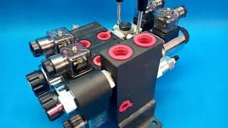 Directional control valve 2-spool hydraulic solenoid 40 l/min (11GPM) 24 V video