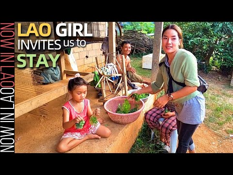 Lao Girl Invites us to Stay in her Village | Now in Lao 2020