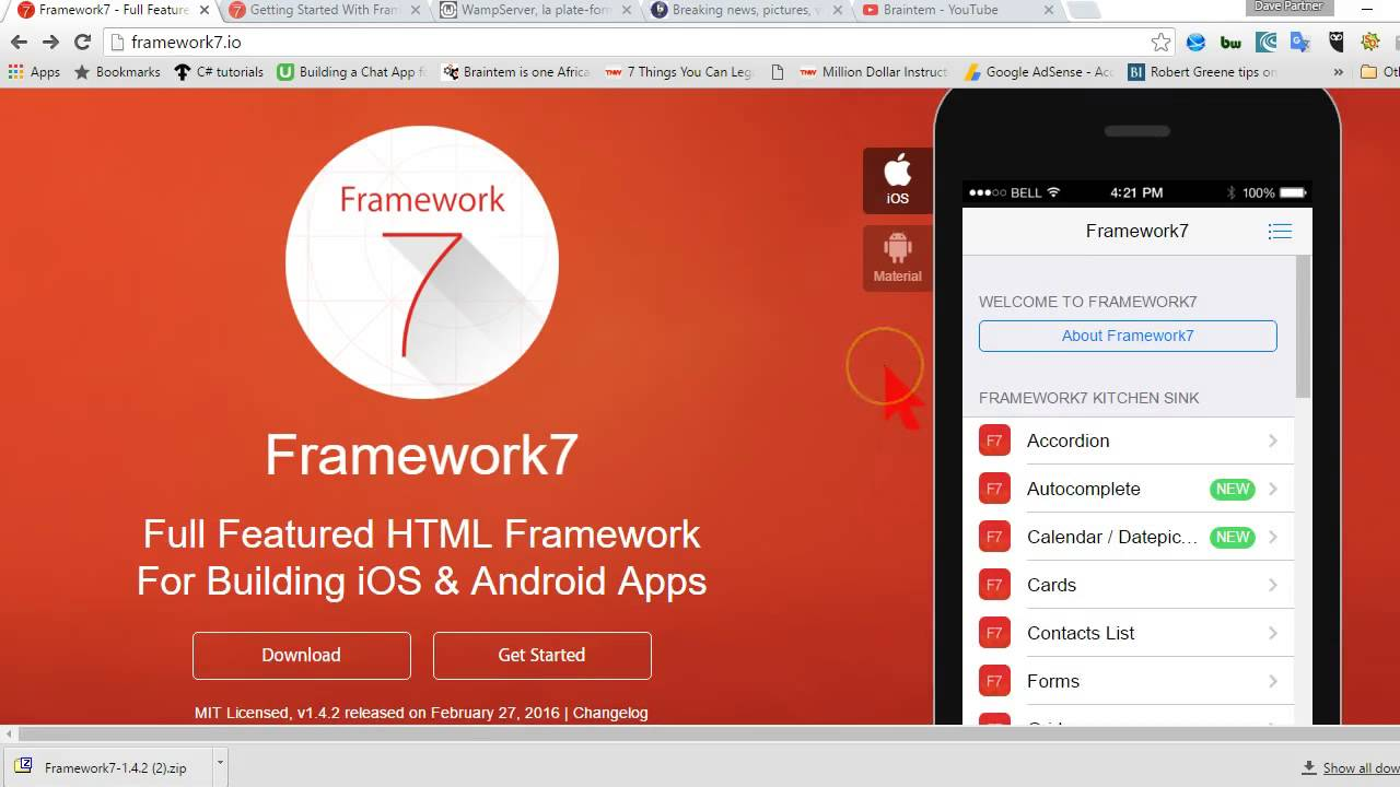 Framework7 Mobile app Tutorial 1 Introduction