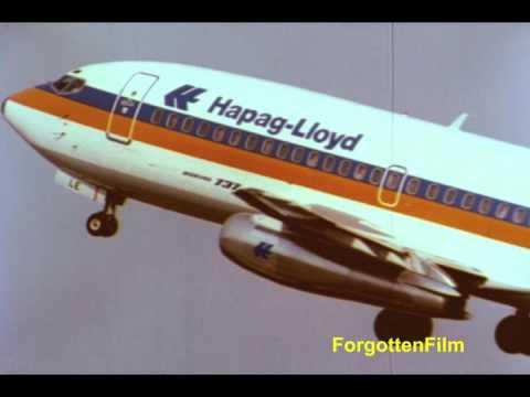 Hapag Lloyd Boeing 737-200 - Super 8 footage