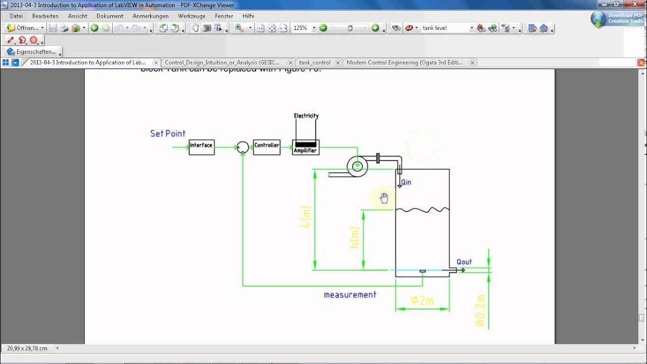 LabVIEW Tutorial #15: Tank level control simulation (Part 2/10)