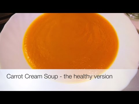 Carrot Cream Soup - The Healthy Version (video made on iMovie on iPad)