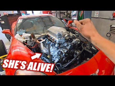 "The Auction Corvette is REBORN w/Her ""NEW"" Junkyard Truck Engine!"