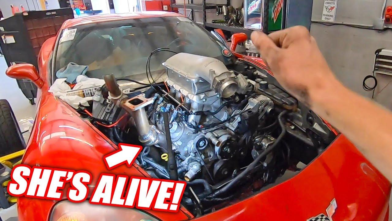 "The Auction Corvette is REBORN w/Her ""NEW"" Junkyard Truck Engine!"