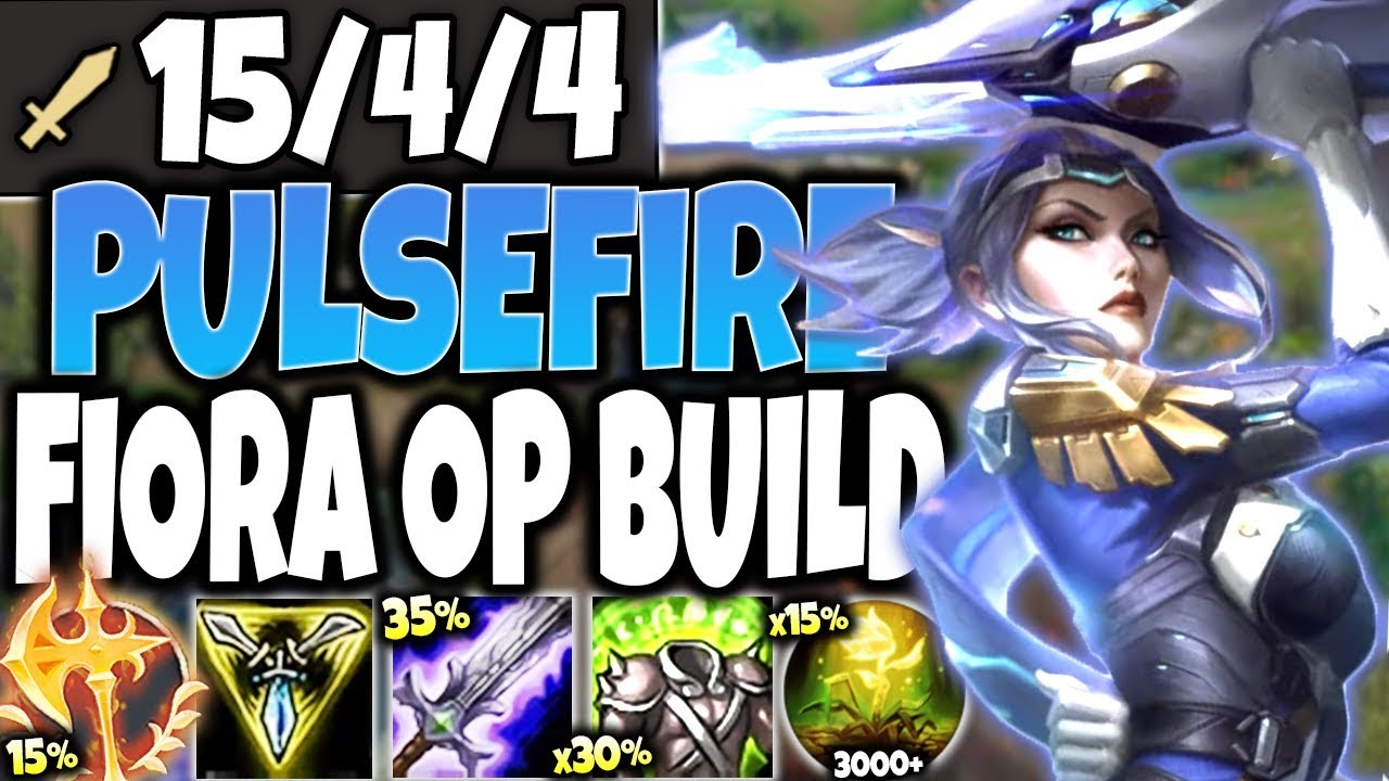 New Pulsefire Fiora Skin Is Op Best Fiora Season 10 Build Guide Lol Top Fiora S10 Pbe Gameplay Youtube