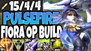 New Pulsefire Fiora Skin IS OP 🔥 Best Fiora Season 10 Build Guide 🔥 LoL Top Fiora S10 PBE Gameplay