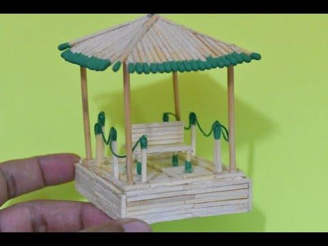 Matchstick Art And Craft Ideas How To Make Matchstick Miniature