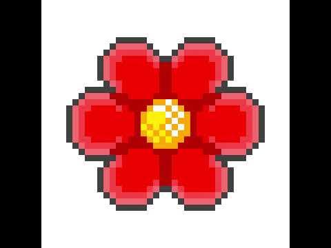 Fleur Pixel Art Youtube