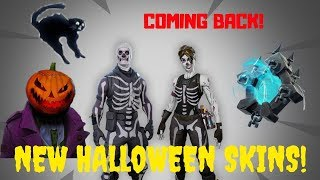 Fortnite-Halloween skins?! Skull Ranger, Hollowhead, Plague!