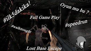 DÜNYANIN EN İYİ OYUNU - Lost Base Escape #İlk 5Dakika #SpeedRun #Full Walktrought