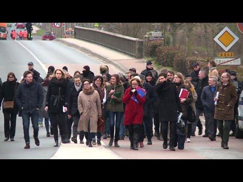 Procès Tarnac: le tribunal sur les lieux du sabotage