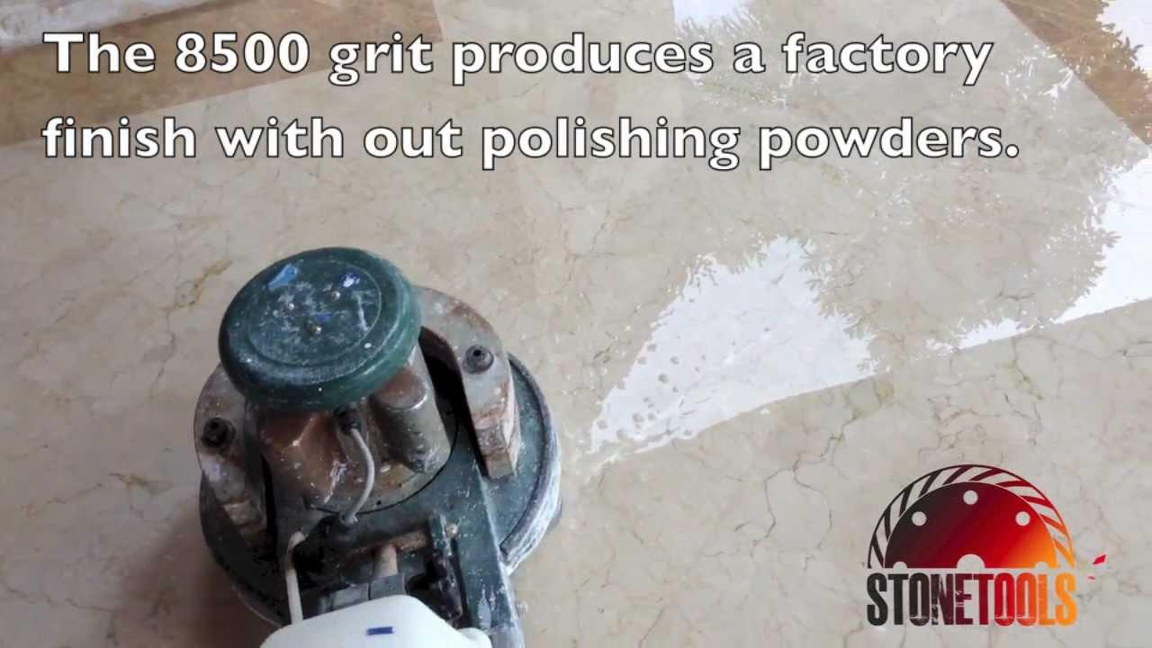 Diamond Polishing Pads Wet Marble Pads Stonetools Youtube