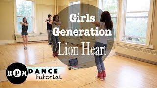 "Girls' Generation ""Lion Heart"" Dance Tutorial (Chorus)"