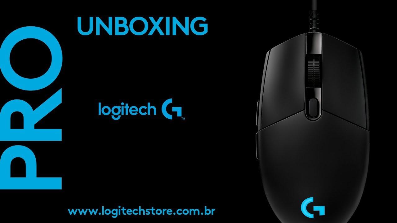 Mouse Gamer PRO Logitech - Unboxing