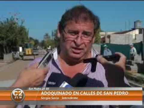 ADOQUINADO EN CALLES DE SAN PEDRO - YouTube