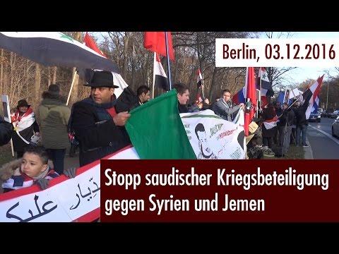 Stopp saudischer Kriegsbeteiligung gegen Syrien und Jemen