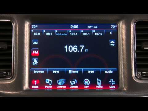 2013 Dodge Charger Uconnect Touch 8 4 Youtube