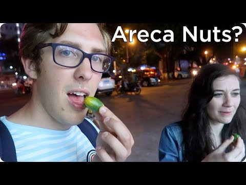 Trying Areca Nuts in Hainan, China