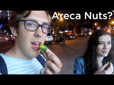 Trying Areca Nuts in Hainan, China