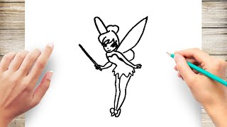How to Draw Tinkerbell for Kids Step by Step
