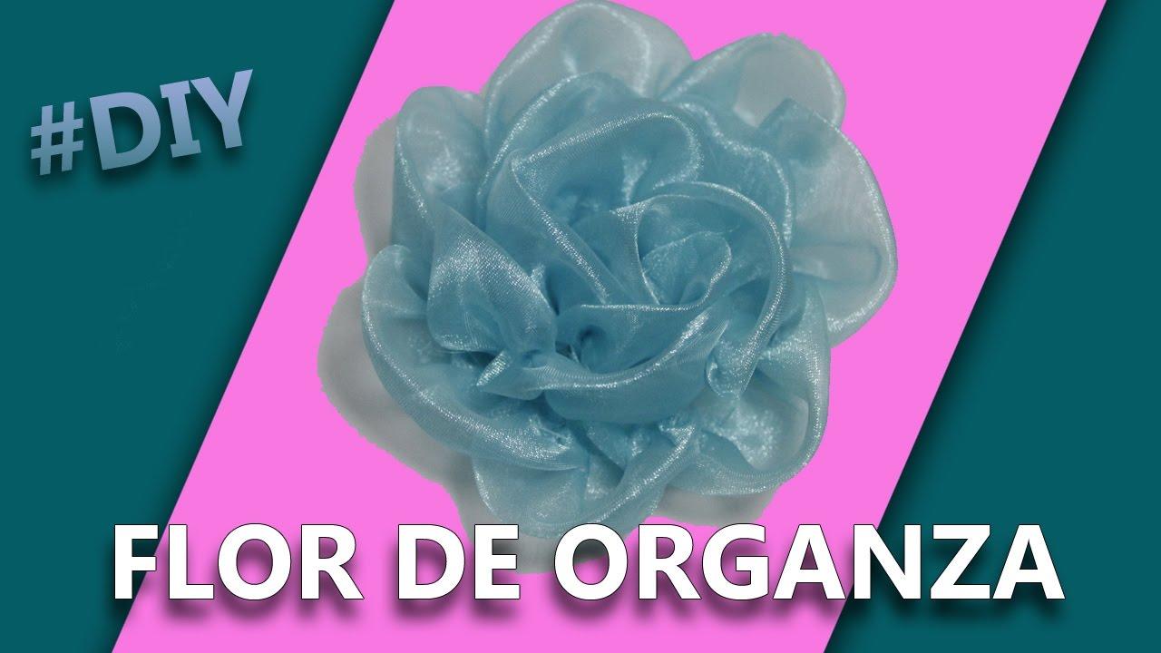 Como hacer una flor con tela organza manualidades - Como hacer manualidades faciles ...