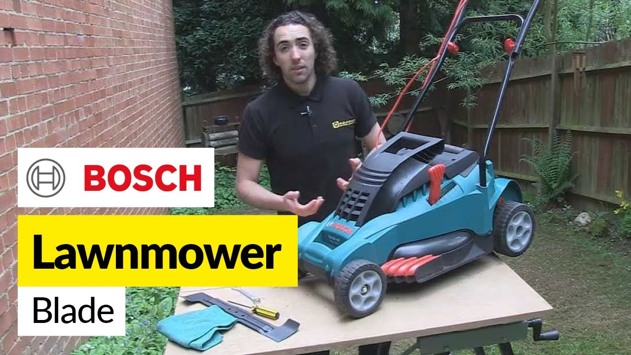 How To Replace A Lawnmower Blade Bosch Youtube