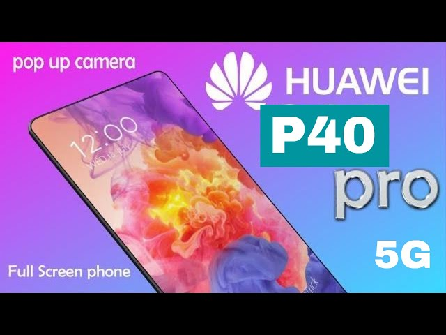 Huawei P30 PRO - Triple camera with a front POP UP camera.